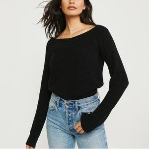A&F Chenille Off-the-Shoulder Sweater